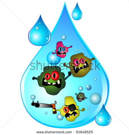 Contaminated Water Clipart.