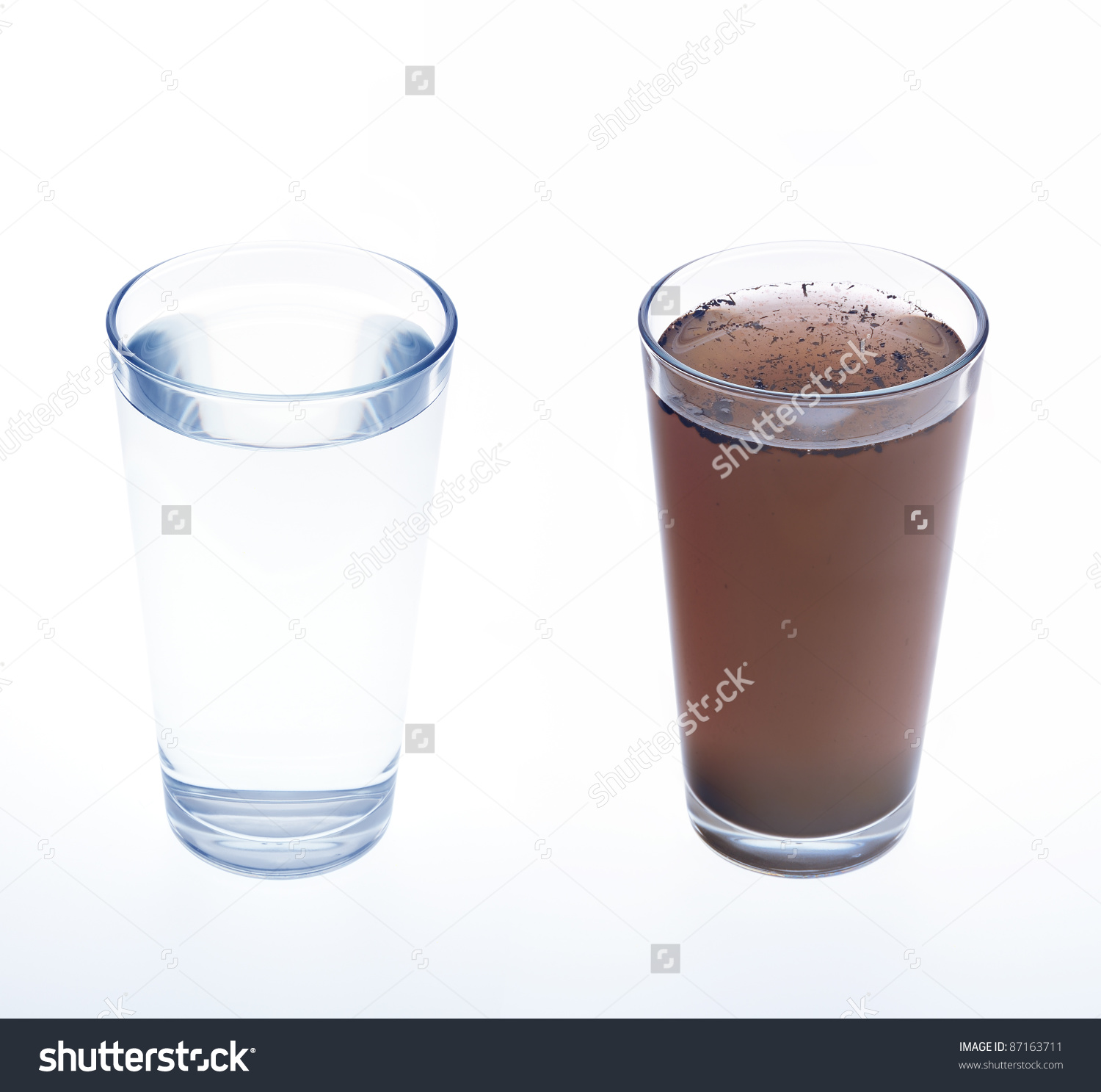 Clean Dirty Water Drinking Glass Concept Stock Photo 87163711.