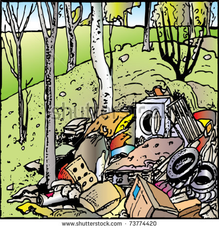 Land Pollution Clipart.