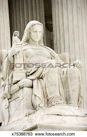 Stock Photo of Contemplation of Justice Statue at United States.