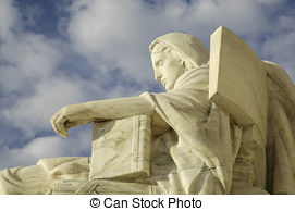 Stock Photos of Statue called Contemplation of Justice at US.