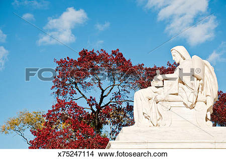 Stock Photo of US Supreme Court statue Contemplation of Justice.