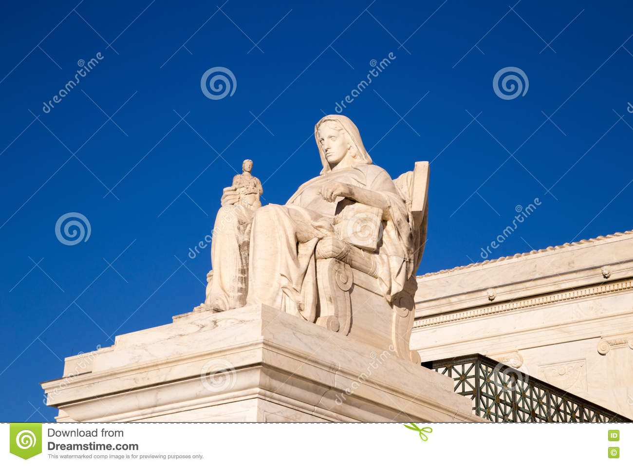 The Contemplation Of Justice Statue : The Statue In Front Of The.