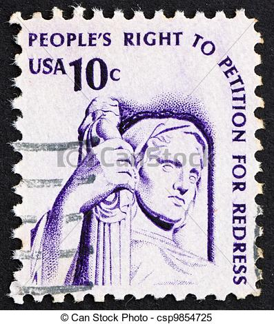 Stock Images of Postage stamp USA 1975 Contemplation of Justice.