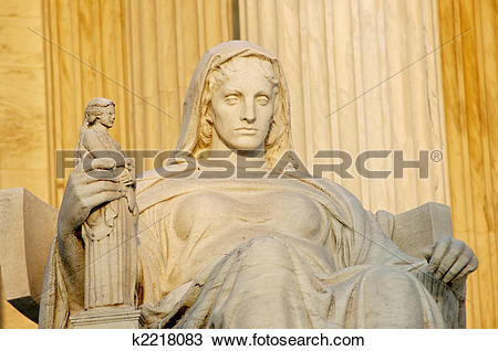 Stock Photo of Statue called Contemplation of Justice at US.