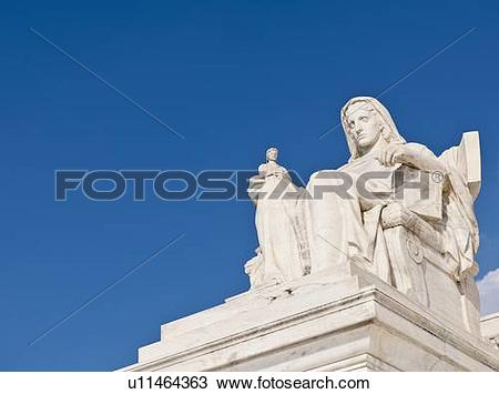Stock Photo of Contemplation of justice statue u11464363.