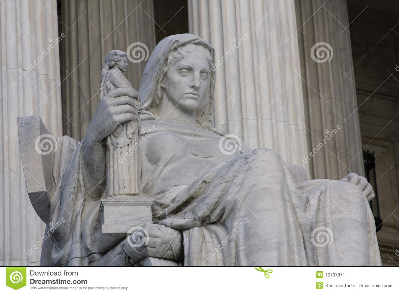 Contemplation Of Justice Stock Image.