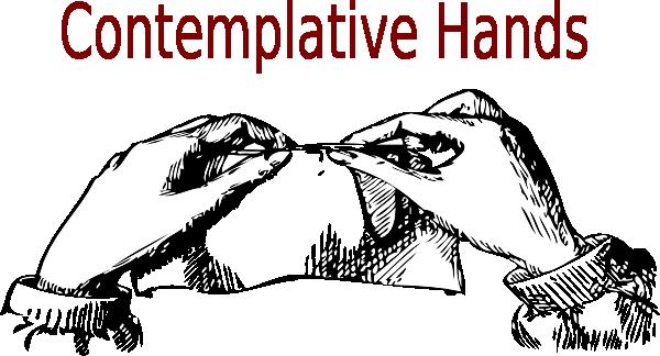 Contemplative Hands Clip Art at Clker.com.
