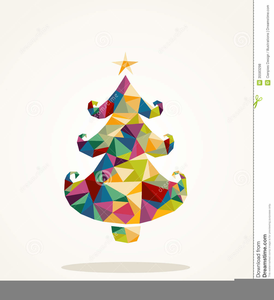 Contemporary Christmas Tree Clipart.