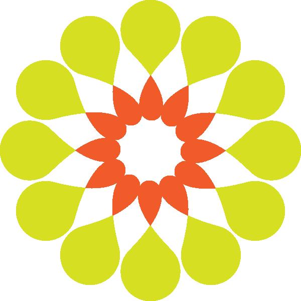 contemporary Flower Clip Art yellow shape circle.