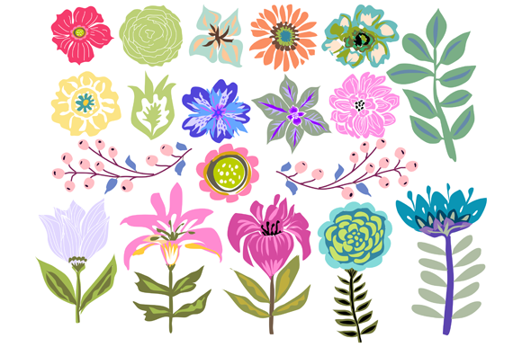 Check out Flowers Clip Art 19 Illustrations by Karen Fields Design.