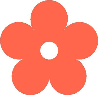 contemporary Flower Clip Art shape circle.
