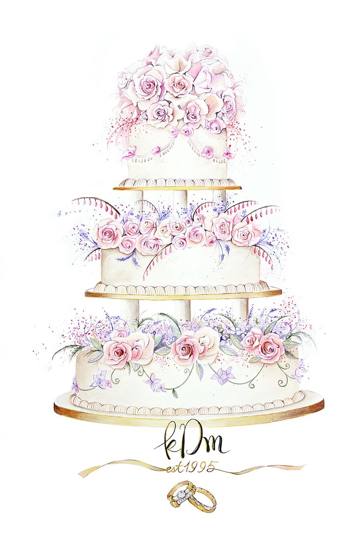 17 Best ideas about Wedding Cake Illustrations on Pinterest.