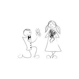 Contemporary Wedding Clipart.