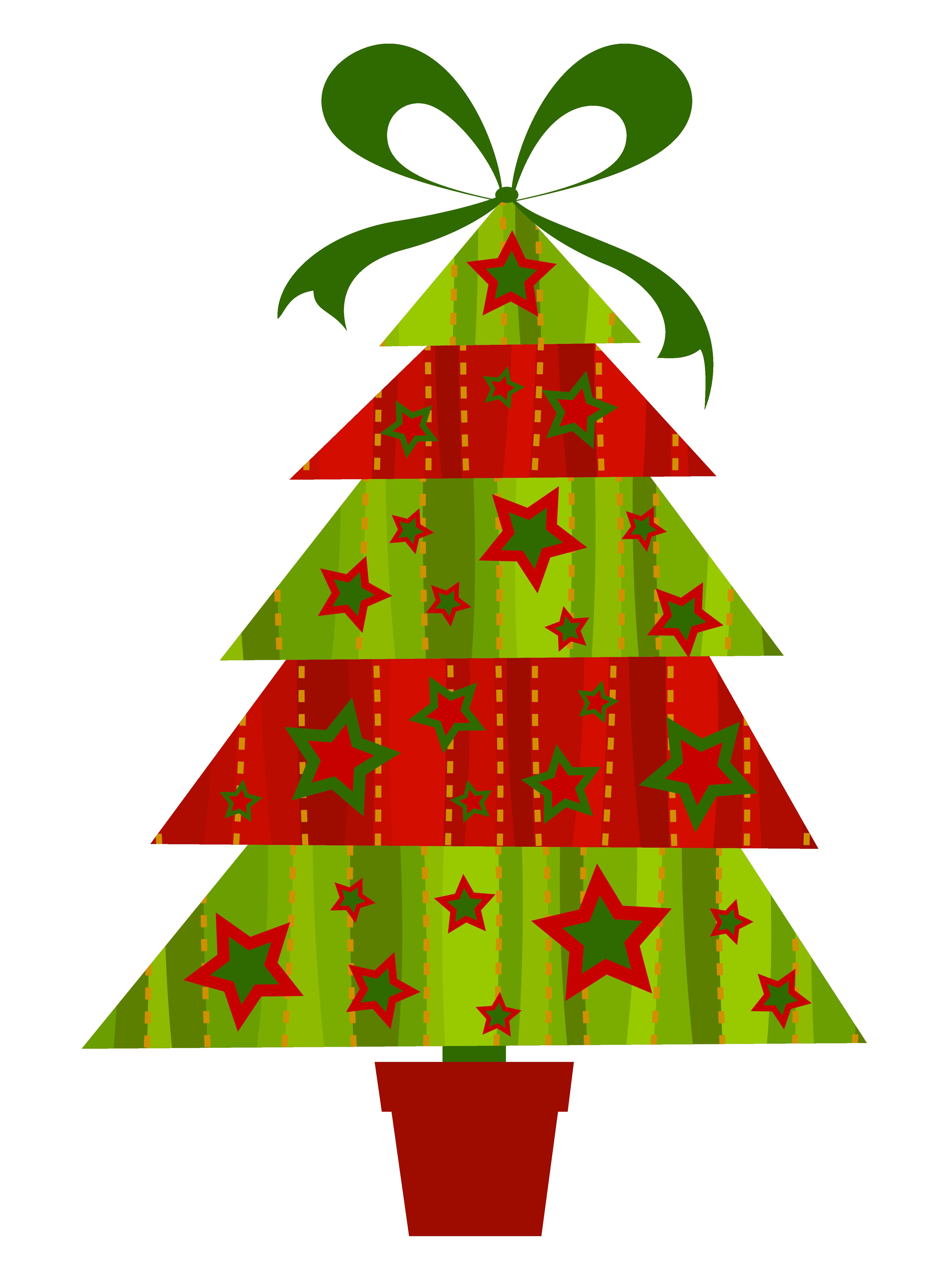 Contemporary Christmas Tree Clip Art.