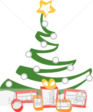 Zigzag Christmas Tree with Gifts.