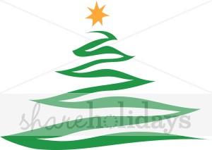 Contemporary Christmas Tree.