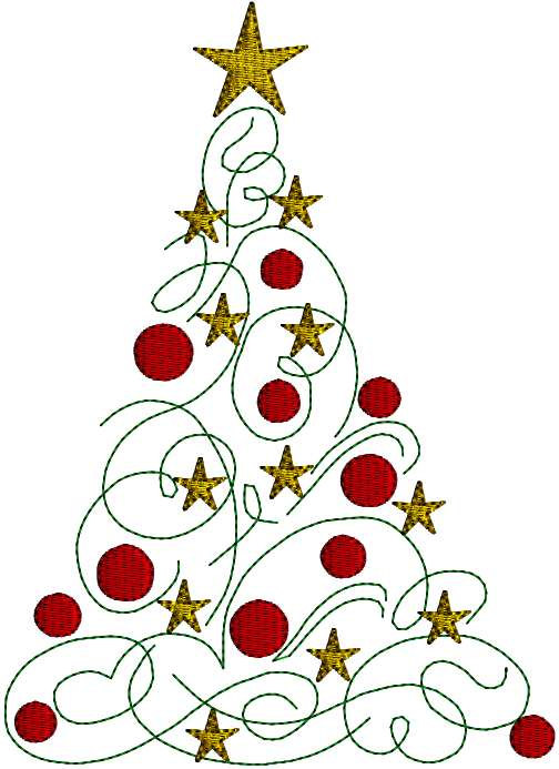 modern christmas tree clipart free