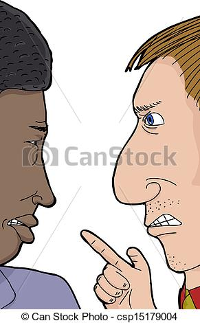 Vector Clipart of Two Men Arguing.