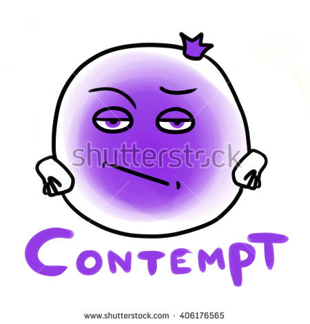 Showing post & media for Contempt face cartoon.