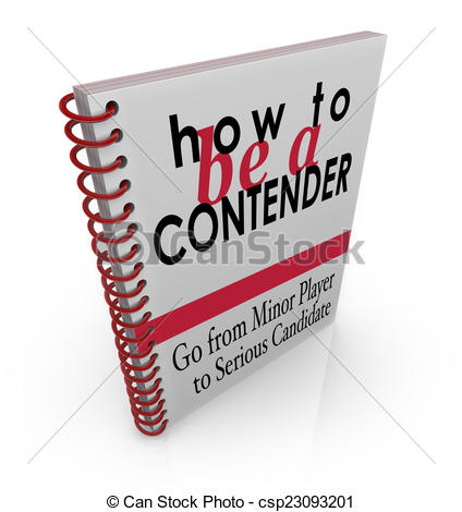 Stock Illustration of How to Be a Contender Advice Information.