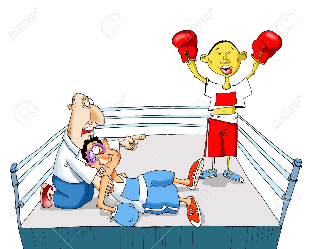 The Chinese Boxer Sends In A Knockout Of The Contender Royalty.