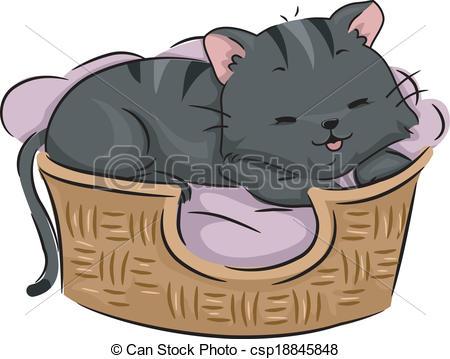 EPS Vector of Cat Bed.