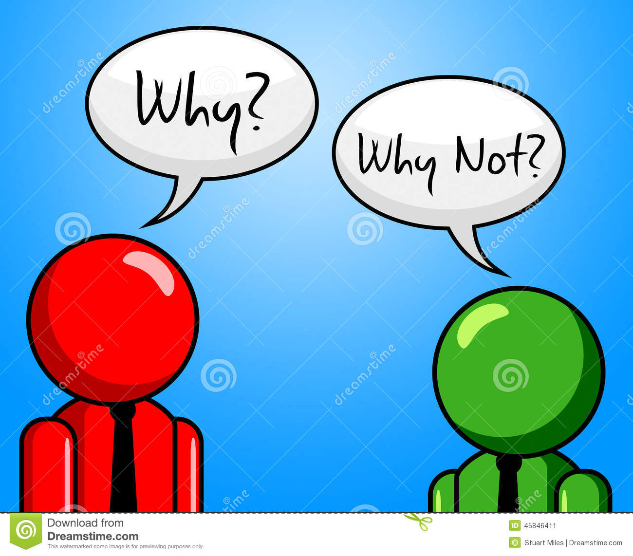 Why Not Represents Point Of View And Assumption Stock Illustration.