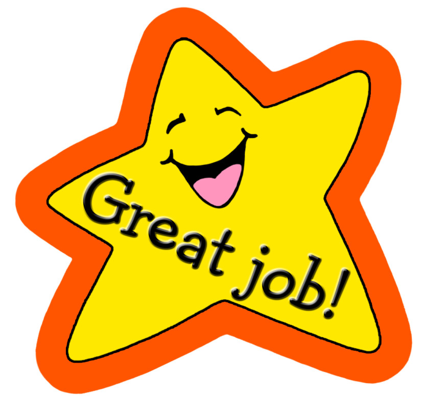 Contentment with job clipart.