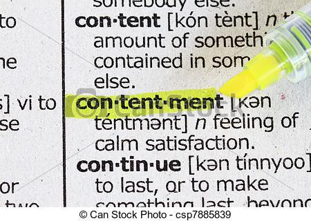 Contentment clipart.