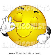Royalty Free Contentment Stock Emoticon Designs.
