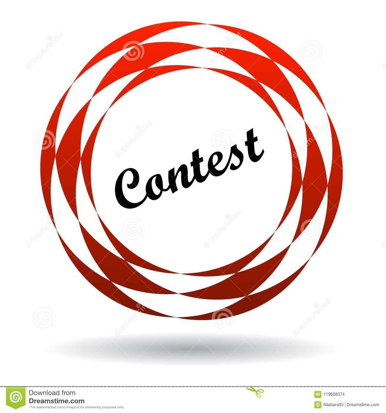 Contest colorful icon stock illustration. Illustration of clipart.