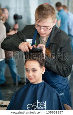 Male Barber Stock Photos, Royalty.