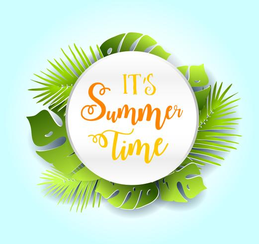 Summer time vector banner design..