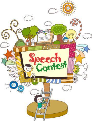 Speech contest clip art.