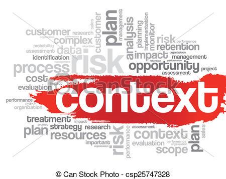 Clip Art of Context concept.
