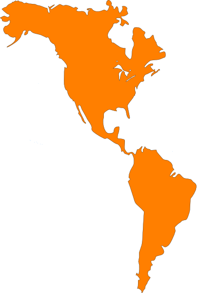 America continent map clipart.
