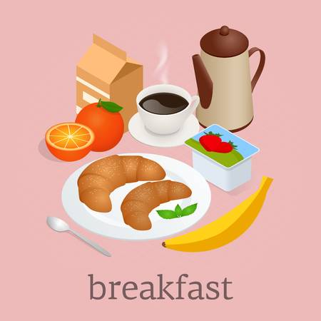 467 Continental Breakfast Stock Vector Illustration And Royalty Free.