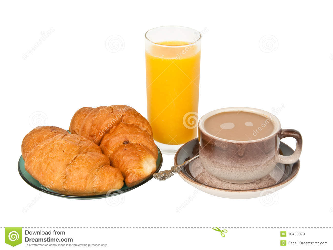 Continental breakfast stock photo. Image of crescent.