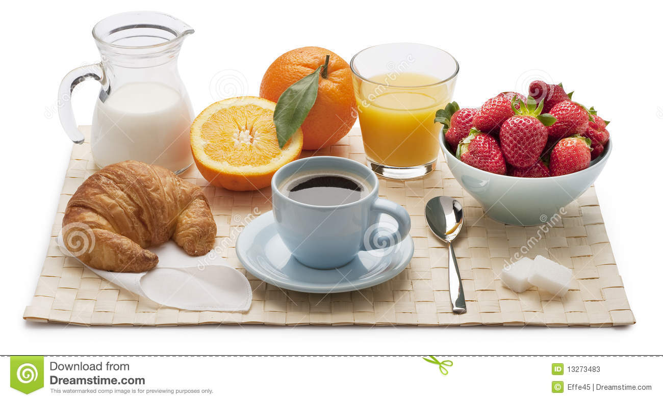 Continental Breakfast Clipart.