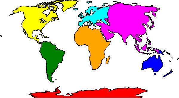 Clip Art Antarctica Map Clipart.