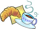 Continental Breakfast Clip Art.