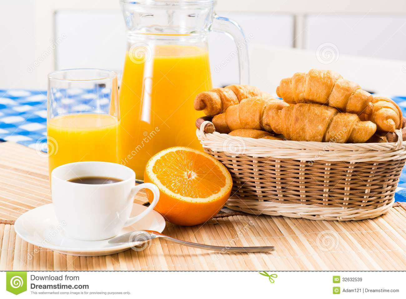 Continental Breakfast Clipart.