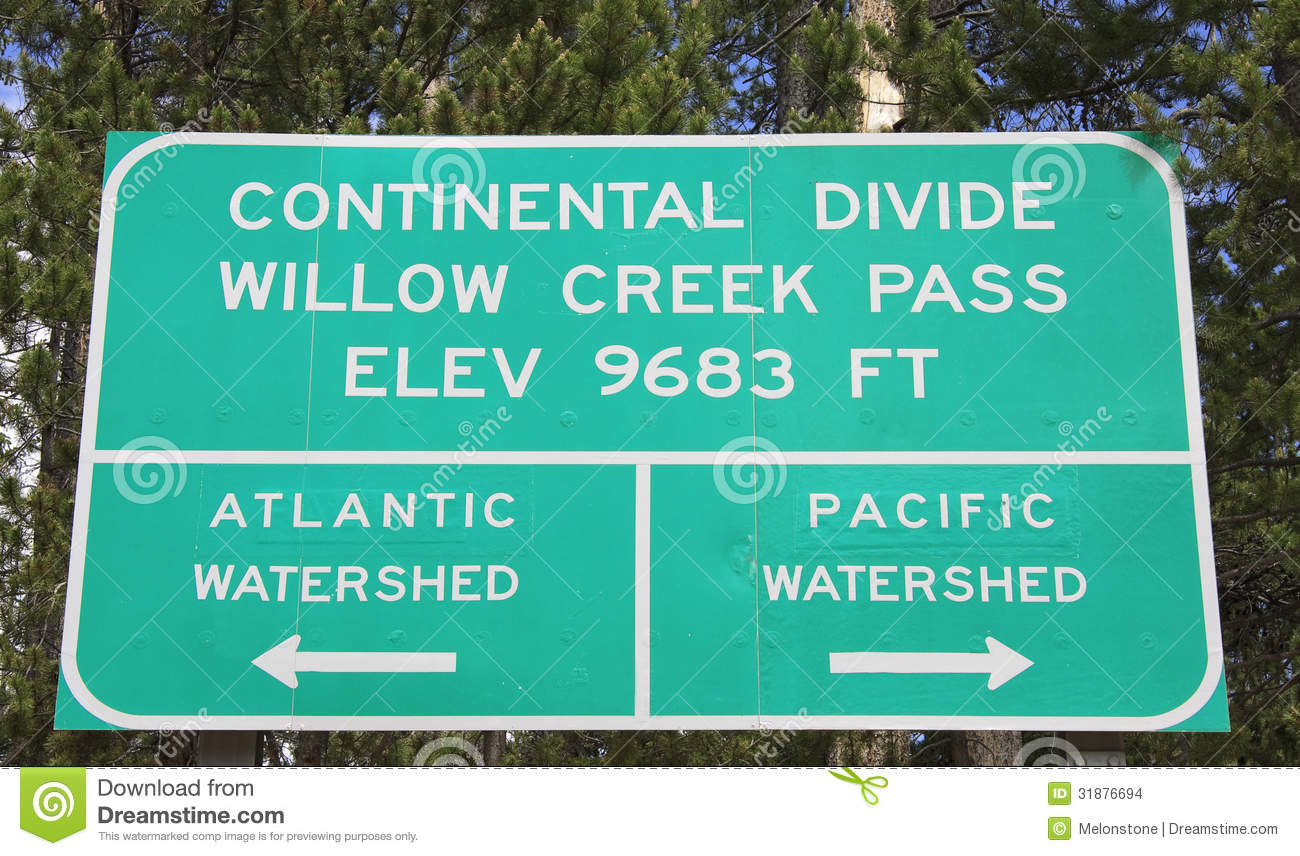 Continental Divide Sign Royalty Free Stock Image.