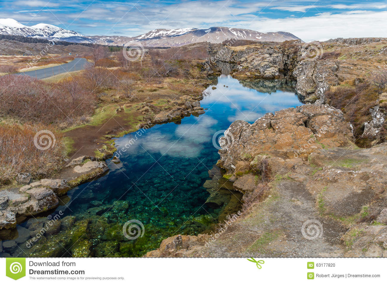 Continental Divide Iceland II Stock Photo.