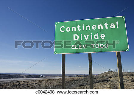 Pictures of Sign for continental divide c0042498.
