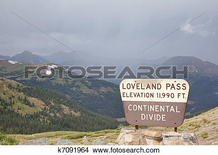 Stock Photo of Loveland Pass.