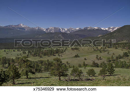 Stock Photograph of Continental Divide overlook x75346929.