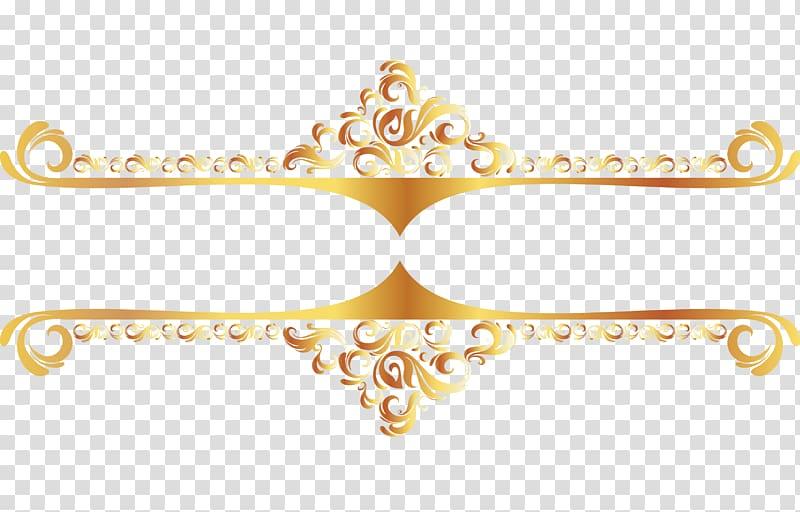 Gold color illustration, Euclidean , Continental Gold Line border.