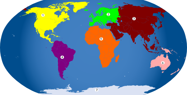 7 Continents Clipart.